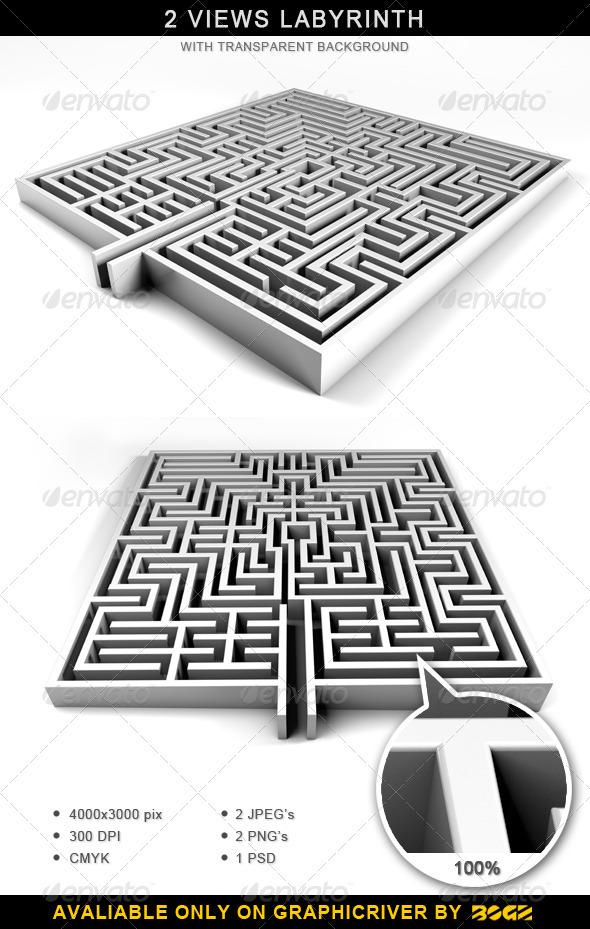 Labyrinth - Maze - Objects 3D Renders