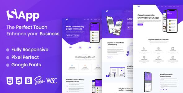 Sapp – App Landing Page