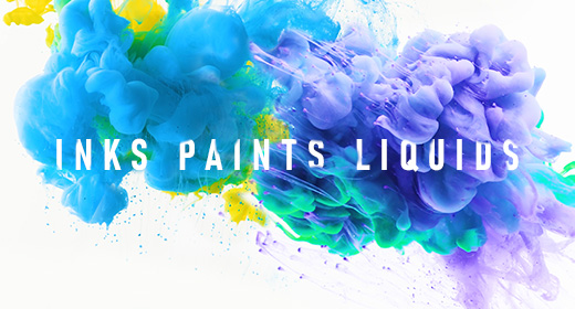 Colorful Inks, Paints and Liquids