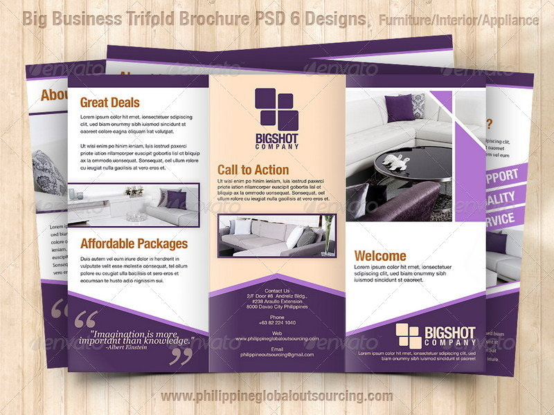 Tri Fold Brochure Template Photoshop 1 Best And Professional Nature