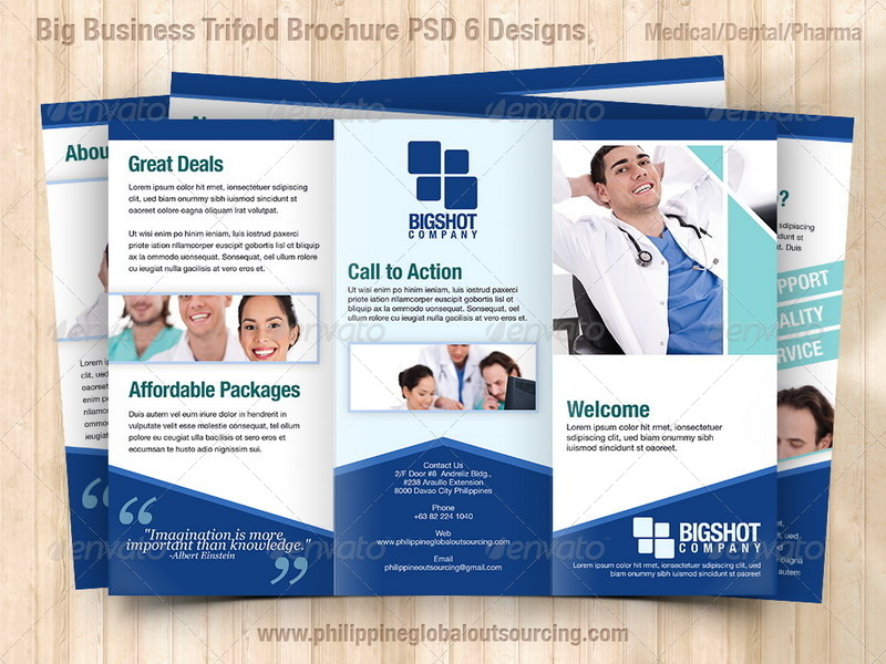 A Trifold Brochure Template PSD Variations By - Free medical brochure templates