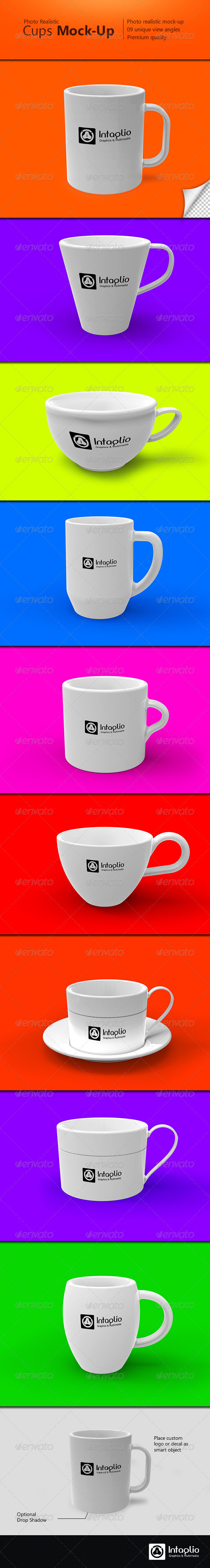 Photo-realistic Cups Mock-Up - Food and Drink Packaging