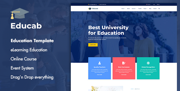 Educab - University Education Joomla Template