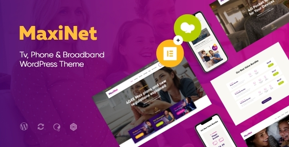Special MaxiNet | Broadband & Telecom Internet Provider WordPress Theme + Elementor