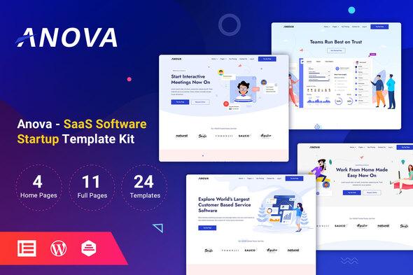 Anova – SaaS & Startup Elementor Template Kit