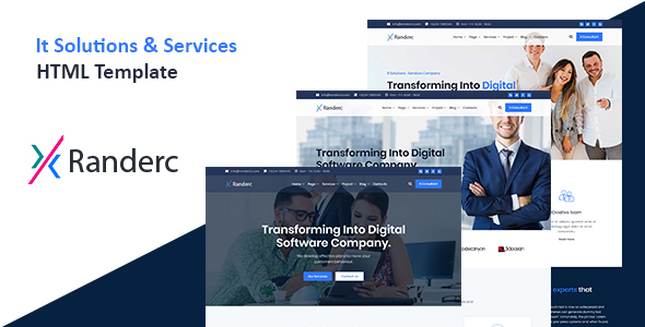 Great Randerc - It solutions and services company HTML template