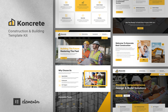 Koncrete - Construction & Building Template Kit