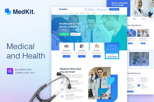 MedKit - Health & Medical Elementor Template Kit