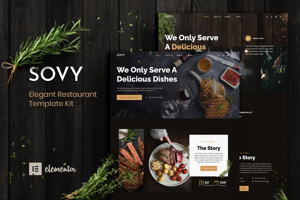 Sovy - Restaurant Elementor Template Kit
