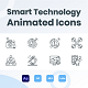 Animated Smart Technology Line Icons - VideoHive Item for Sale