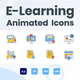 Animated Online Education Icons - VideoHive Item for Sale