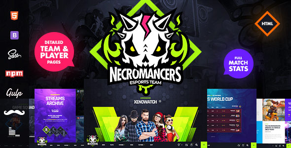Necromancers – eSports Team HTML Template