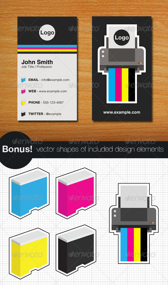 Printer business card and vectors by teambudgie graphicriver printer business card and vectors industry specific business cards colourmoves