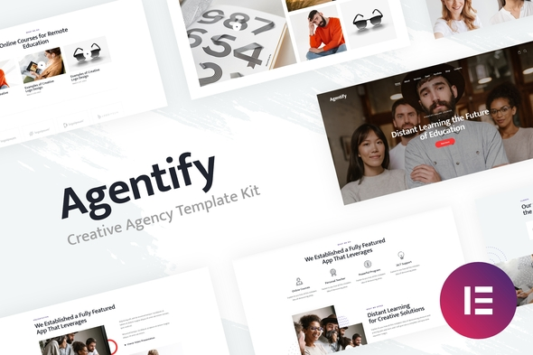 Agentify | Personal Portfolio for Creatives Elementor Template Kit