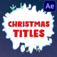 Christmas Titles | After Effects - VideoHive Item for Sale