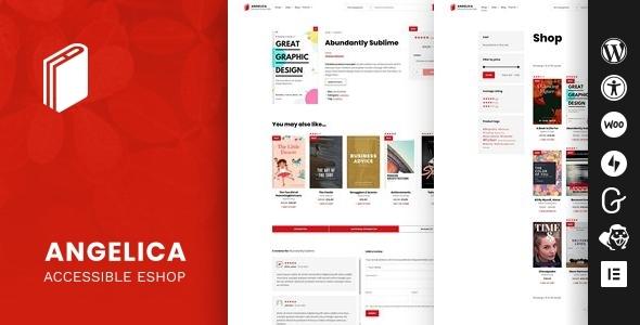 Wondrous Angelica - Accessible Bookstore WordPress theme