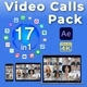 Video Calls Pack 17 in 1 - VideoHive Item for Sale