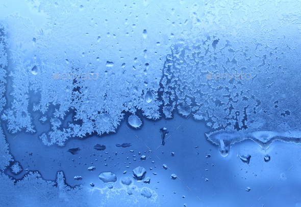 ice and water drops texture - Stock Photo - Images