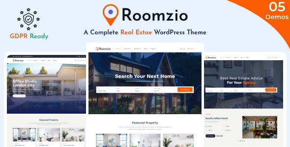 Roomzio - Real Estate WordPress Theme