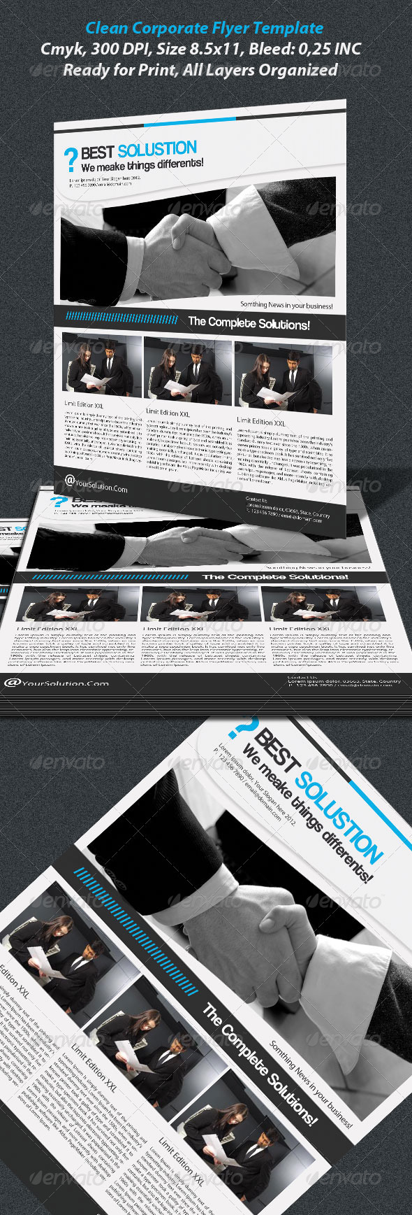 Clean Corporate Flayer Template - Corporate Flyers