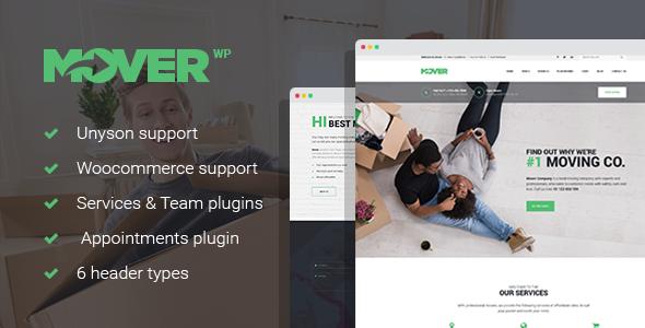 Extraordinary Mover - Moving Company & Storage Services WordPress Theme