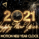 Glamorous New Year Countdown Clock 2021 V1 - VideoHive Item for Sale