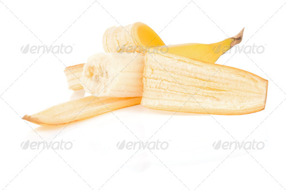 fresh fruits banana isolated on white - Stock Photo - Images