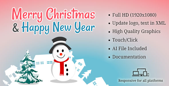 Merry Christmas & New Year Greeting Card