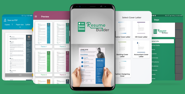 Resume Cv And Cover Letter Builder App With Admob Ads By Razaandroid