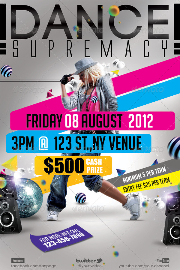 Dance Supremacy/Dance Battle Flyer Template by hermz | GraphicRiver