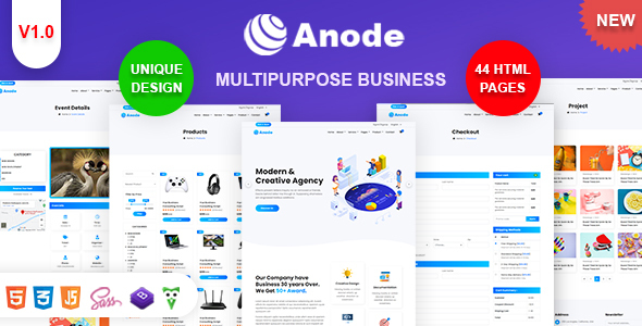 Anode - Multipurpose Business & Digital Agency HTML Template