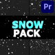 Cartoon Snowflakes Pack | Premiere Pro MOGRT - VideoHive Item for Sale