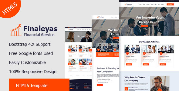 Great Finaleyas - Corporate & Financial Business HTML5 Template,