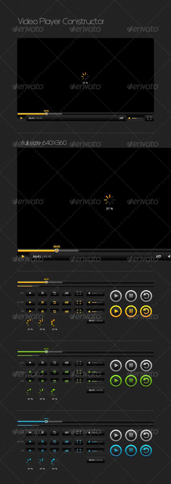Video Player Constructor - Navigation Bars Web Elements
