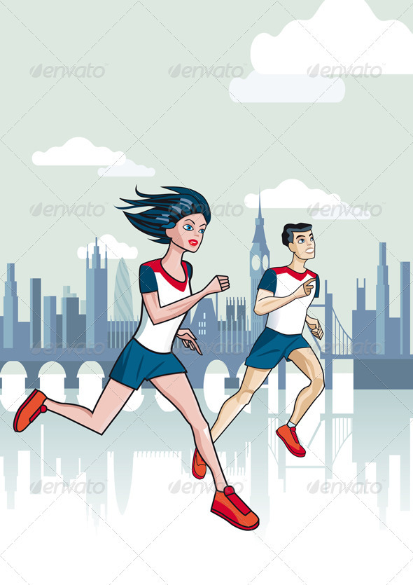 Runners - Sports/Activity Conceptual