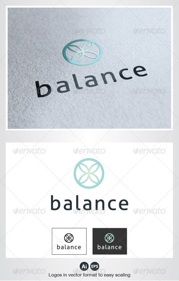 Balance Flower Logo - Nature Logo Templates