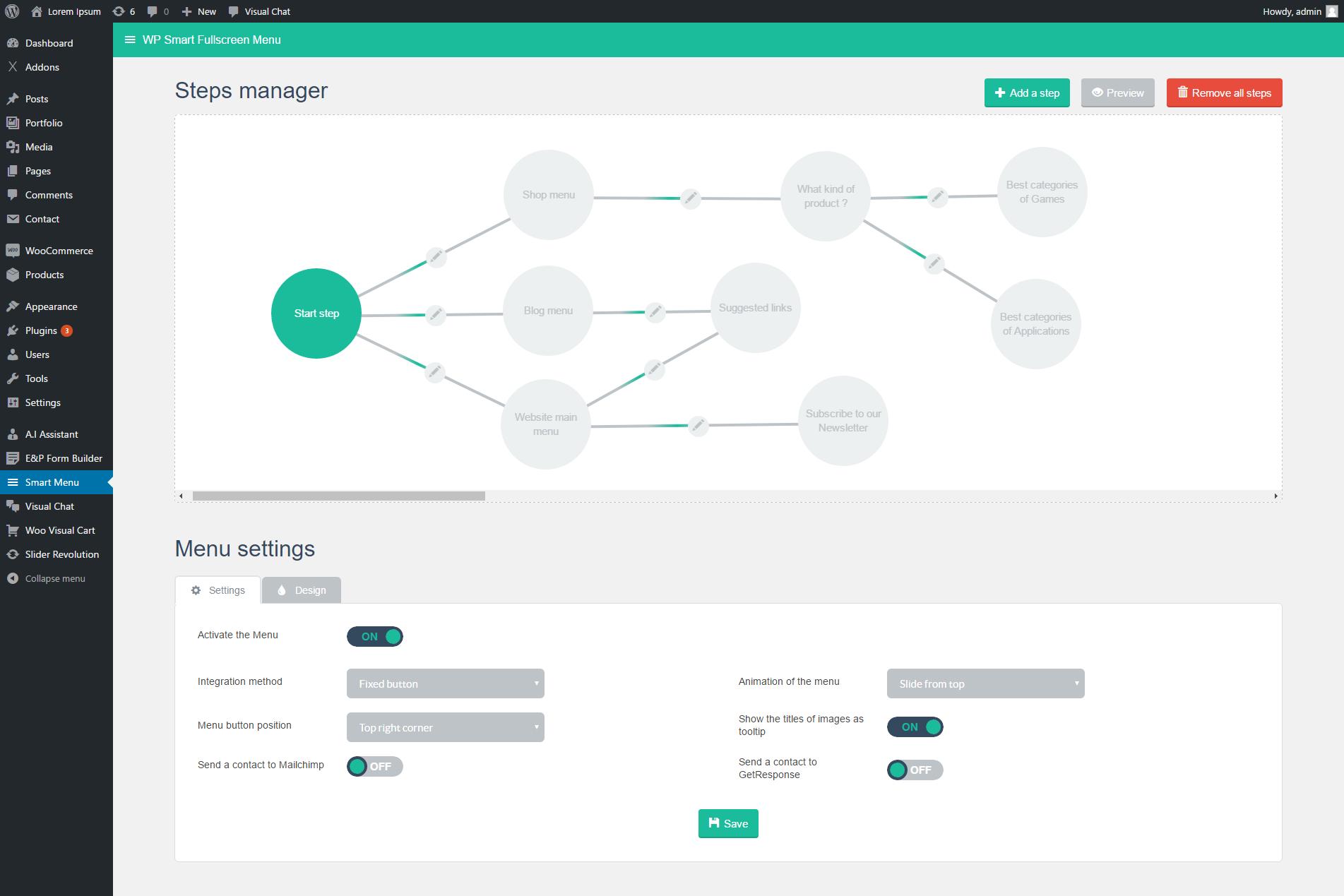 WP Smart Fullscreen Menu by loopus   CodeCanyon