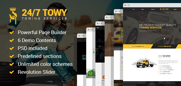 Extraordinary Towy - Emergency Auto Towing and Roadside Assistance Service WordPress theme