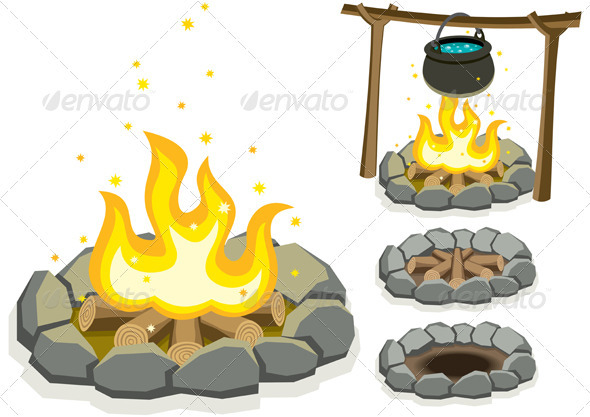 Campfire - Objects Vectors
