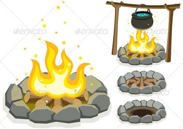Campfire - Objects Vectors