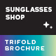 Sunglasses Shop Trifold Brochure