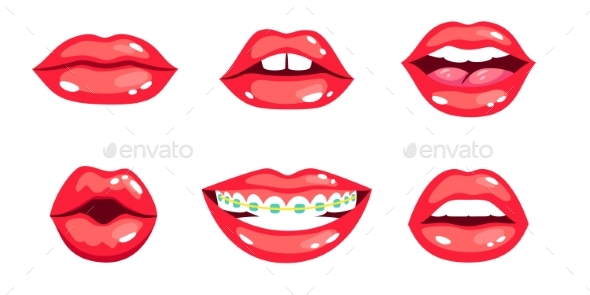 Female Lips Set