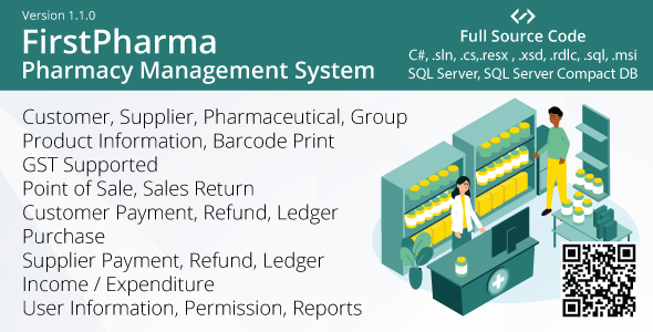 FirstPharma - Pharmacy Management System (POS, GST, C#, MSSQL)