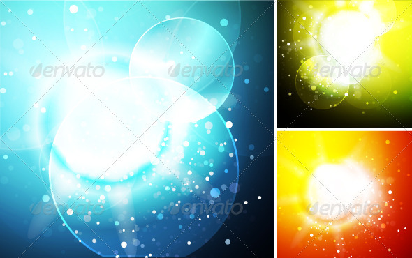 Vector Sunshine Backgrounds - Nature Conceptual