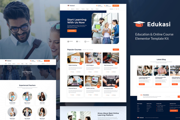 Edukasi – Education & Online Course Elementor Template Kit