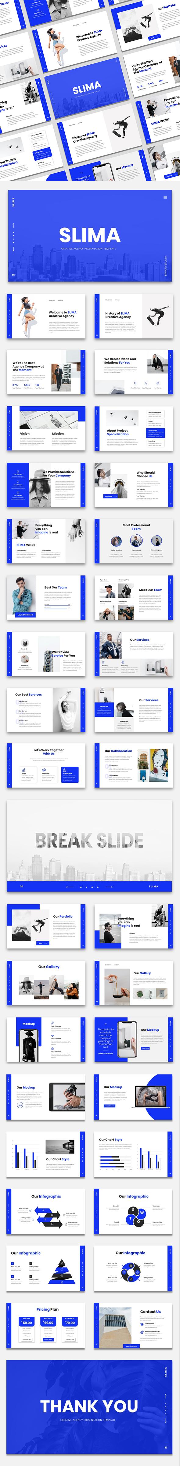 SLIMA - Creative Agency Keynote Presentation Template