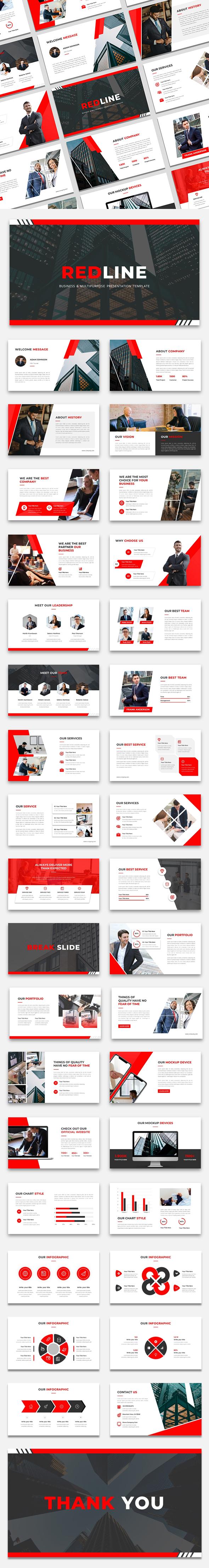 REDLINE - Busines & Multiporpose Keynote Presentation Template