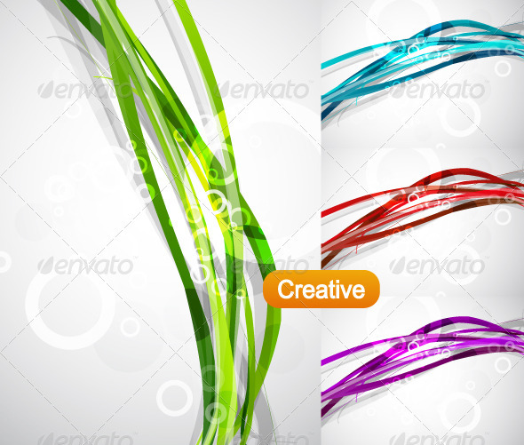 Vector Wavy Backgrounds - Backgrounds Decorative