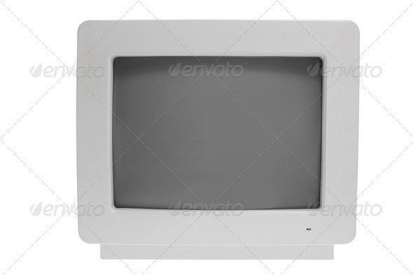 Old Computer Monitor - Stock Photo - Images