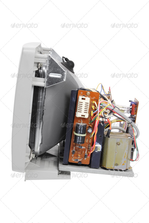 Broken Computer Monitor - Stock Photo - Images